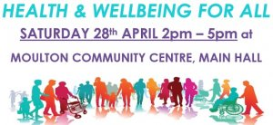 Health & Well-being event for all Sat 28th April