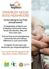 Annual Good Neighbour Event - 18 March 2020
